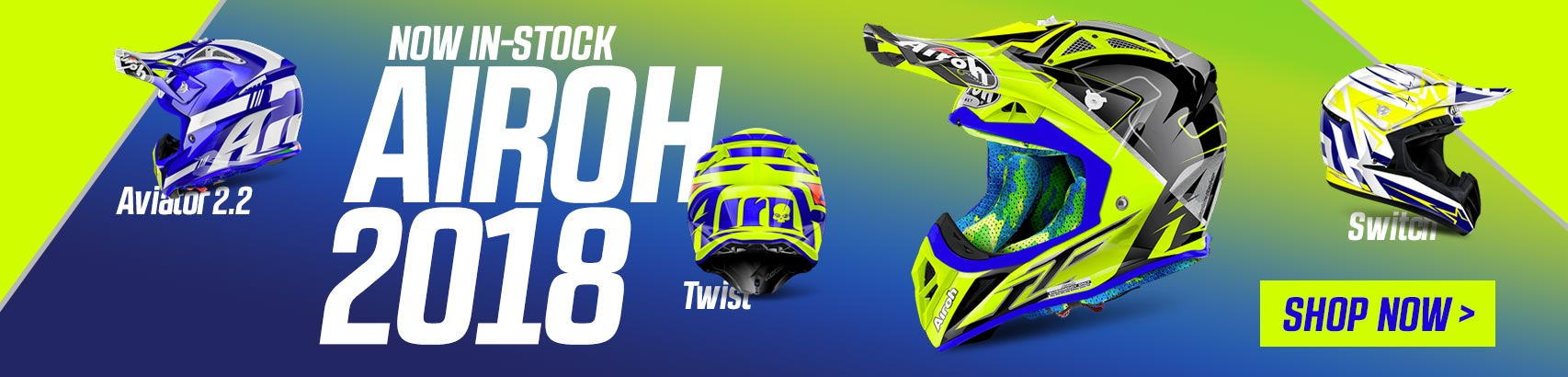 2018 Airoh Offroad Helmets