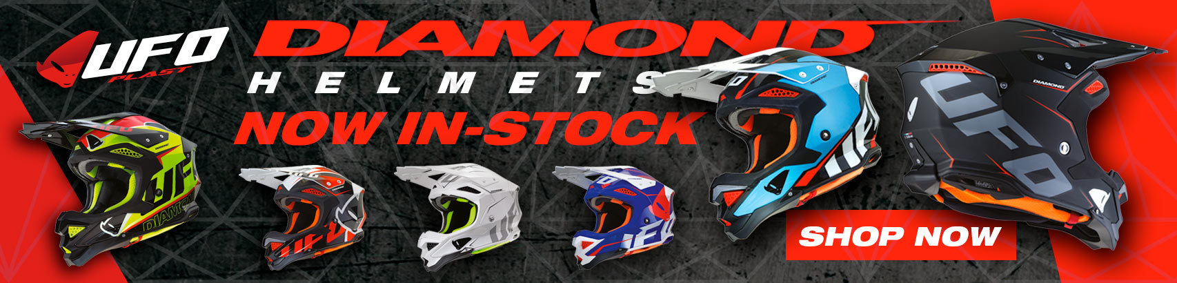 2018 UFO Diamond MX Helmets