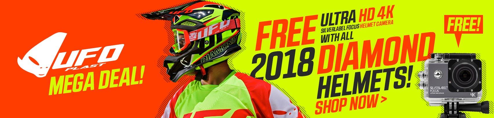Free 4K Cam with every Diamond Helmet