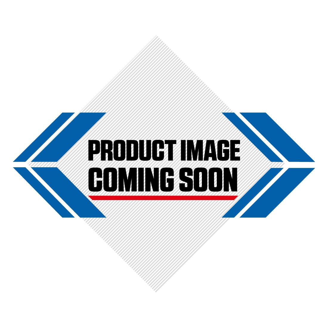 UFO NOS Black White Red Onyx Motocross Helmet Image-0