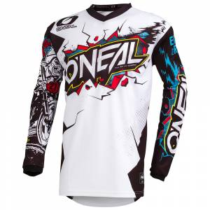 ONeal Kids Element Villain White Motocross Jersey