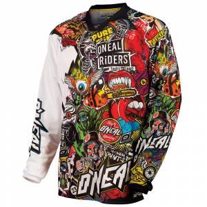 ONeal Mayhem Crank Black Multi Motocross Jersey