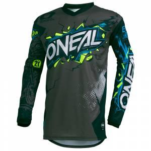ONeal Kids Element Villain Grey Motocross Jersey
