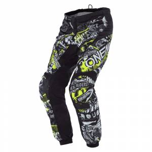 ONeal Kids Element Attack Black Neon Yellow Motocross Pants
