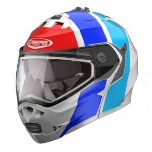 Caberg Duke II Impact White Blue Red Flip Up Helmet