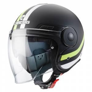 Caberg Uptown Chrono Matt Black Yellow Fluo Open Face Helmet