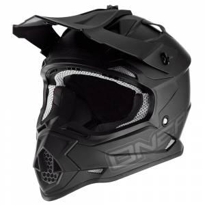 ONeal 2 Series Flat Black Motocross Helmet