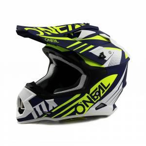 ONeal 2 Series Spyde 2.0 Blue White Neon Yellow Motocross Helmet