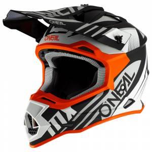 ONeal 2 Series Spyde 2.0 Black White Orange Motocross Helmet
