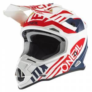 ONeal 2 Series Spyde 2.0 White Blue Red Motocross Helmet