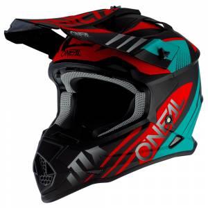 ONeal 2 Series Spyde 2.0 Black Teal Red Motocross Helmet