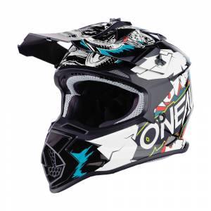 ONeal Kids 2SRS Villain 2.0 White Motocross Helmet