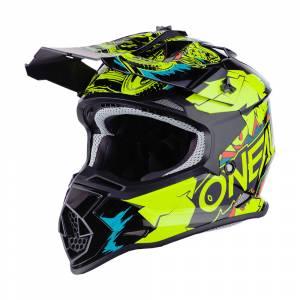 ONeal Kids 2SRS Villain 2.0 Neon Yellow Motocross Helmet