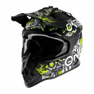 ONeal Kids 2SRS Attack 2.0 Black Neon Yellow Motocross Helmet