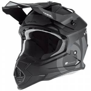 ONeal 2 Series Slick Black Grey Motocross Helmet