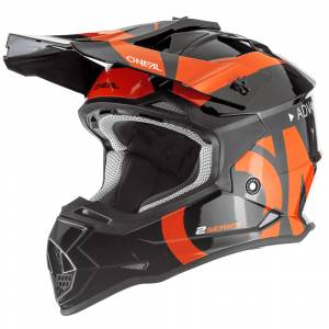 ONeal 2 Series Slick Black Orange Motocross Helmet