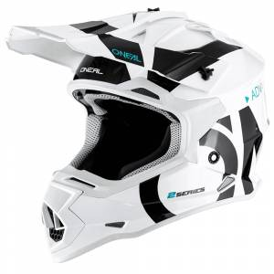 ONeal 2 Series Slick White Black Motocross Helmet