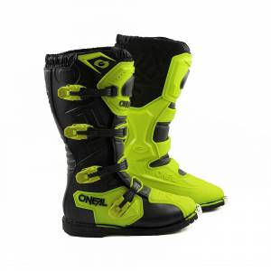 ONeal Rider Pro Neon Yellow Motocross Boots