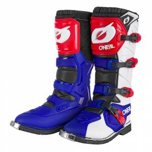 ONeal Rider Pro Blue Red White Motocross Boots