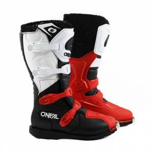 ONeal Rider Pro Black White Red Motocross Boots