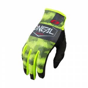ONeal Mayhem Covert Charcoal Neon Yellow Motocross Gloves