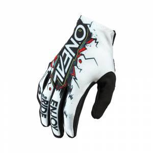 ONeal Kids Matrix Villain White Motocross Gloves