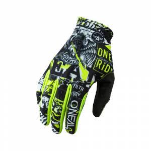 ONeal Matrix Attack Black Neon Yellow Motocross Gloves