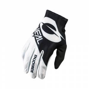 ONeal Matrix Stacked Black White Motocross Gloves