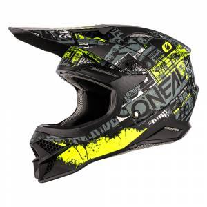 ONeal 3 Series Ride Black Neon Yellow Motocross Helmet