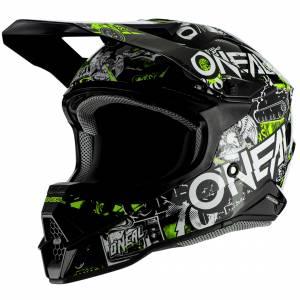 ONeal 3 Series Attack 2.0 Black Neon Yellow Motocross Helmet