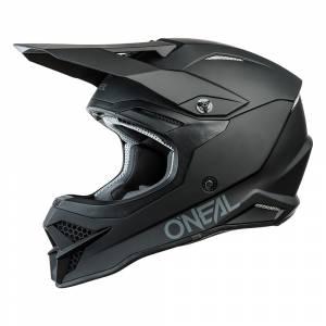 ONeal 3 Series Solid Black Motocross Helmet