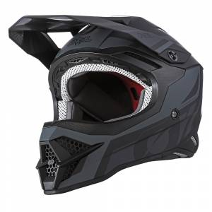 ONeal 3 Series Hybrid Black Grey Motocross Helmet