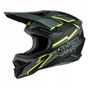 ONeal 3 Series Voltage Black Neon Yellow Motocross Helmet