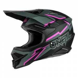 ONeal 3 Series Voltage Black Pink Motocross Helmet