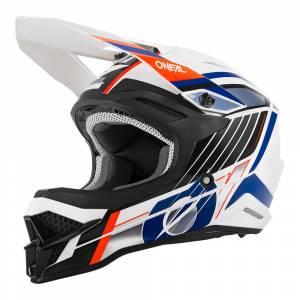 ONeal 3 Series Vision White Black Orange Motocross Helmet