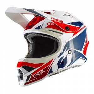 ONeal 3 Series Stardust White Blue Red Motocross Helmet