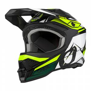 ONeal 3 Series Stardust Black White Yellow Motocross Helmet