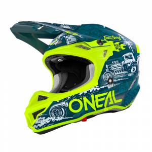 ONeal 5 Series Polyacrylite HR Blue Neon Yellow Motocross Helmet