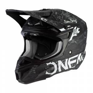 ONeal 5 Series Polyacrylite HR Black White Motocross Helmet