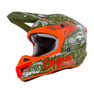 ONeal 5 Series Polyacrylite HR Green Orange Motocross Helmet