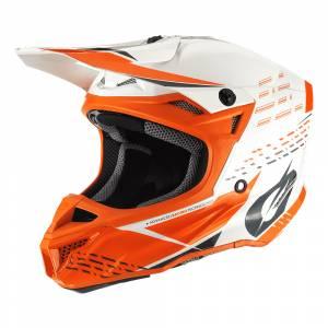 ONeal 5 Series Polyacrylite Trace White Orange Motocross Helmet