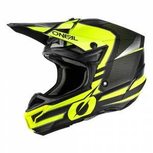 ONeal 5 Series Polyacrylite Sleek Black Neon Yellow Motocross Helmet