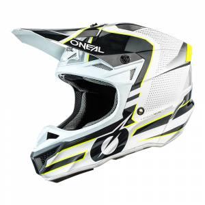ONeal 5 Series Polyacrylite Sleek White Grey Motocross Helmet
