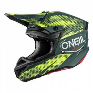 ONeal 5 Series Polyacrylite Covert Charcoal Neon Yellow Motocross Helmet