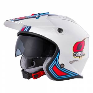ONeal Volt MN1 White Red Blue Open Face Helmet