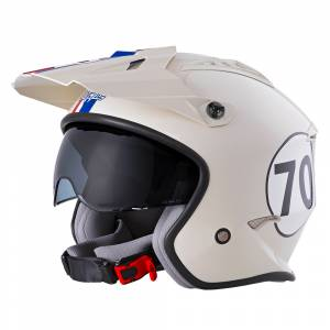 ONeal Volt Herbie White Red Blue Open Face Helmet