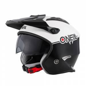 Volt Cleft Trials Helmet Black White