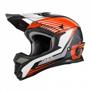 ONeal 1 Series Stream Black Orange Motocross Helmet