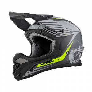 ONeal 1 Series Stream Grey Neon Yellow Motocross Helmet