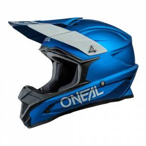 ONeal 1 Series Solid Blue Motocross Helmet